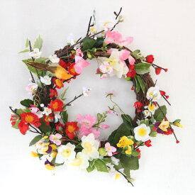 造花 M様リクエストの梅と水仙のリース CT触媒