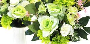 造花仏花ローズとデージーの爽やかな花束一対CT触媒造花シルクフラワーお彼岸お盆お仏壇仏花お墓花お供え