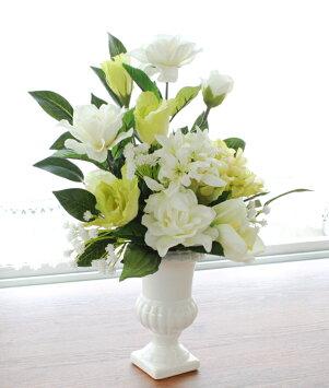 造花仏花カーネーションとコーンフラワーのアレンジシルクフラワーCT触媒