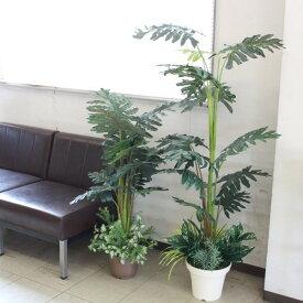 フェイクグリーン 大型 セロームツリー 2本セット130cm&100cm DG 人工観葉植物 CT触媒 snb