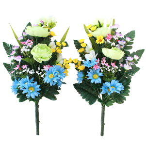 仏様の四季の花束一対