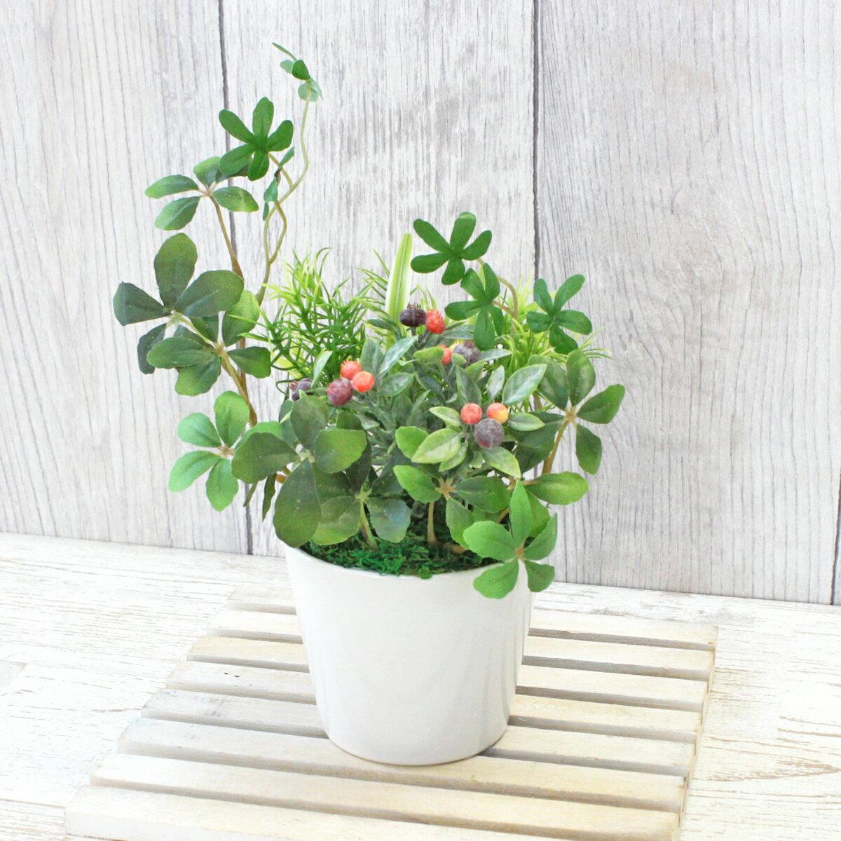 造花 シュガーバインとフラットグラスのプチガーデンアレンジ 観葉植物 CT触媒