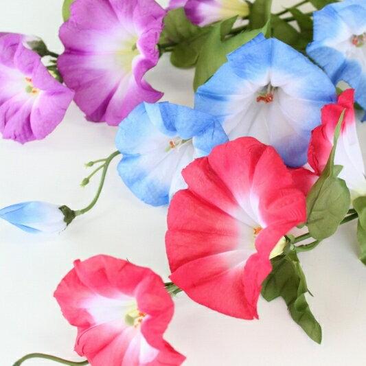 大輪の朝顔スプレー【造花】