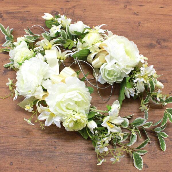 造花 ミントグリーンのラナンキュラスのスワッグ〔ゴム付〕 シルクフラワーr ブライダル ウェディング ウエルカムボード CT触媒