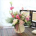 造花 桃とハナミズキのひな祭りの和なアレンジ シルクフラワーr【キャンセル・返品不可】 CT触媒