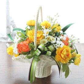 造花 マムとジプソの可愛らしいアレンジr 造花 シルクフラワー CT触媒