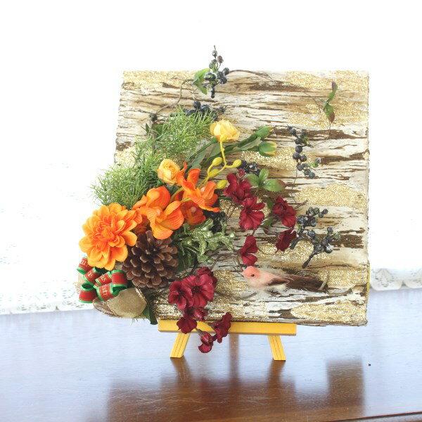 造花 ランやダリアのゴールドボードに飾ったアレンジ クリスマス【キャンセル・返品不可】 CT触媒
