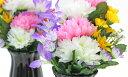 造花 仏花 可愛らしいエゾ菊とミニリリーのプチ花束一対 CT触媒 造花 シルクフラワー お彼岸 お盆 お仏壇 仏花 お墓 …
