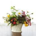 造花 フルーツやデージーのアレンジ 敬老の日 CT触媒 シルクフラワー