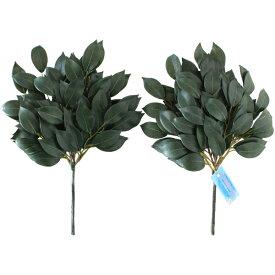 榊 造花 お榊 小 約33cm 一対 (サカキ さかき) 神棚 造花 花器固定用スポンジ付き CT触媒加工