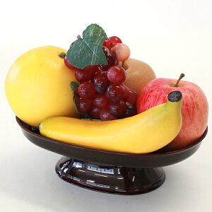 お供え 果物5点セット 器付き フルーツ 模型 フェイク サンプル りんご オレンジ 梨 ブドウ バナナ グレープフルーツ 桃