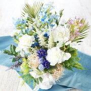 造花仏花アレンジ亡き母へ贈る白いカーネーションのアレンジ母の日ギフトカーネーションCT触媒シルクフラワー