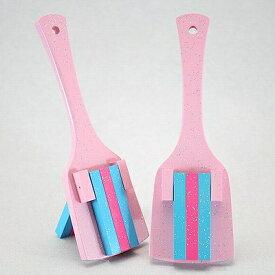 レインボースペシャル(よさこい鳴子)さくら台-水色・ピンク・水色角取り仕上げ
