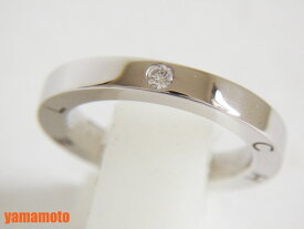 CHANEL シャネル Cシグネチャー 1P ダイヤモンド リング 指輪 K18 750 WG #51 J1944 美品【中古】