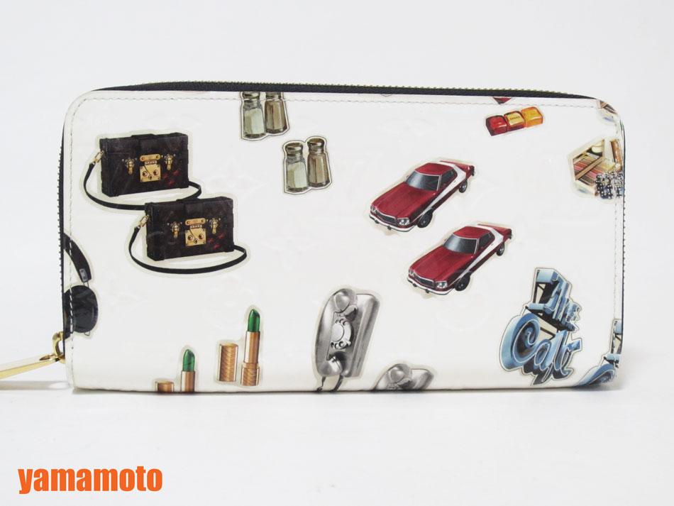 LOUIS VUITTON ルイヴィトン ヴェルニ ジッピーウォレット 2015年春夏コレクション ニコラ・ジェスキエール ラウンドファスナー財布 エナメル M50370 美品【中古】