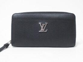 LOUIS VUITTON ルイヴィトン カーフレザー ジッピー・ロックミー ファスナー財布 ブラック メンズ M62622 美品【中古】