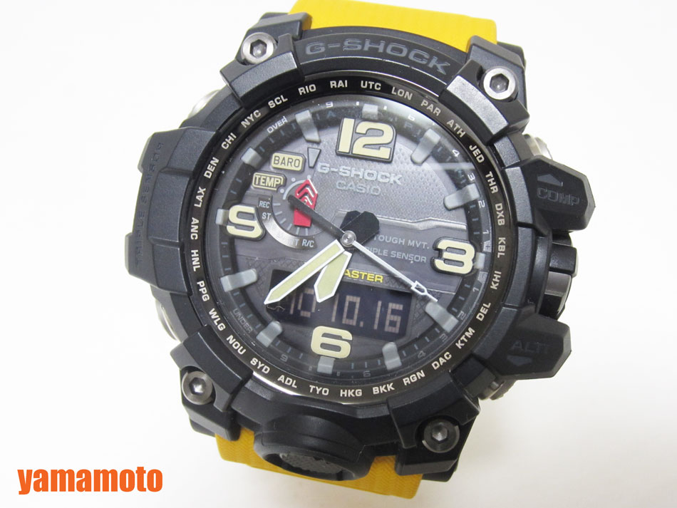 CASIO カシオ MUDMASTER マッドマスター タフソーラー 電波 腕時計 メンズウォッチ GWG-1000-1A9JF 新品同様 【中古】