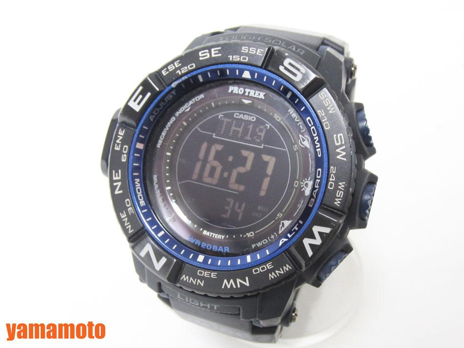 CASIO カシオ PROTREK プロトレック 電波ソーラー メンズ 腕時計 デジタル MULTI FIELD LINE PRW-3500Y-1JF 【中古】