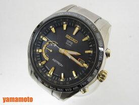 SEIKO セイコー ASTRON アストロン メンズウォッチ 腕時計 ソーラーGPS衛星電波 ブラック ゴールド SBXB087 新品同様 【中古】