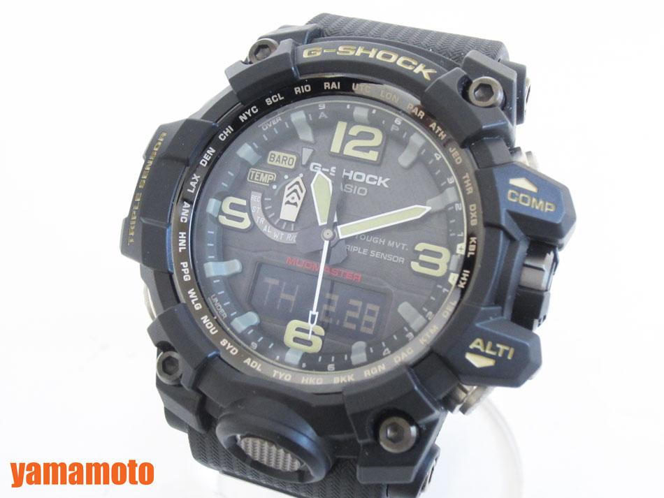 CASIO カシオ G-SHOCK Gショック MUDMASTER マッドマスター タフソーラー 電波 腕時計 メンズウォッチ GWG-1000-1AJF 新品同様 【中古】