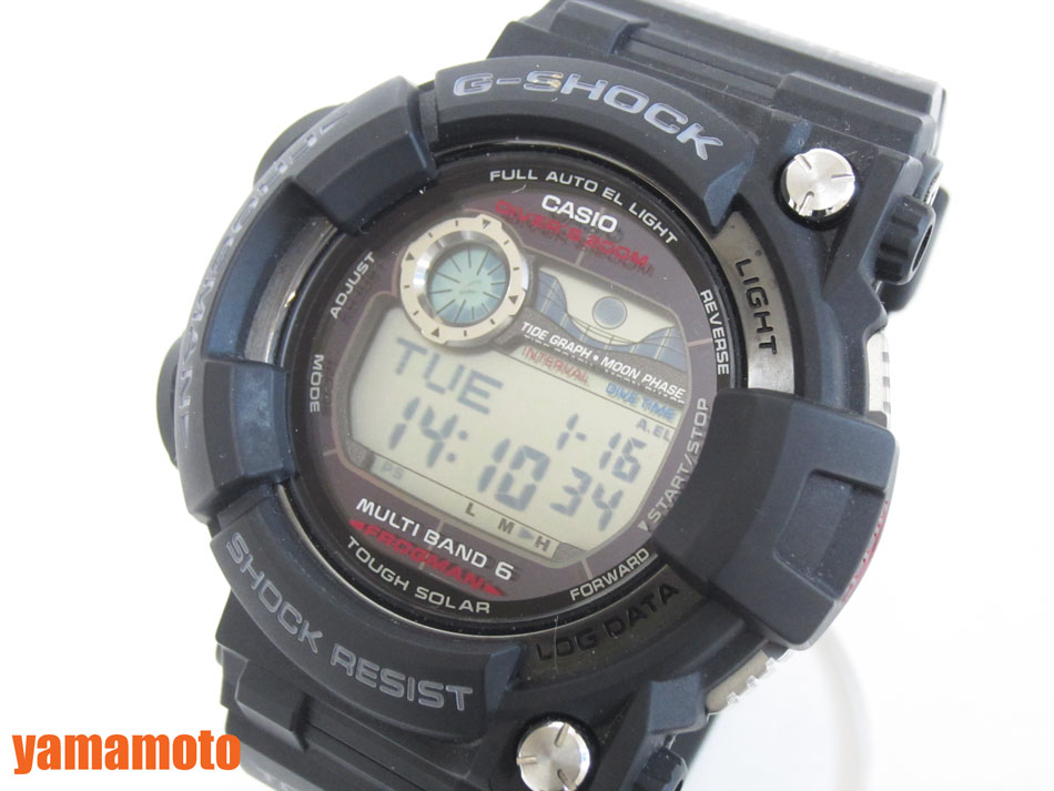 CASIO カシオ G-SHOCK Gショック FROGMAN フロッグマン メンズウォッチ 腕時計 タフソーラー GWF-1000-1JF 美品 【中古】