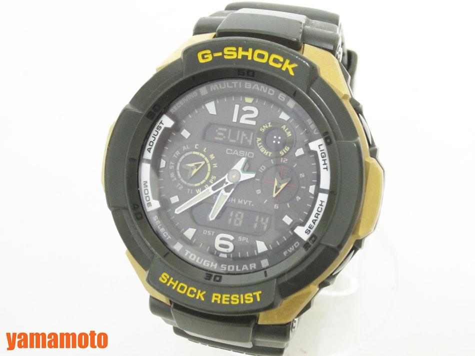 CASIO カシオ G-SHOCK Gショック SKYCOCKPIT スカイコックピット タフソーラー メンズウォッチ 腕時計 GW-3500G-1AJF【中古】