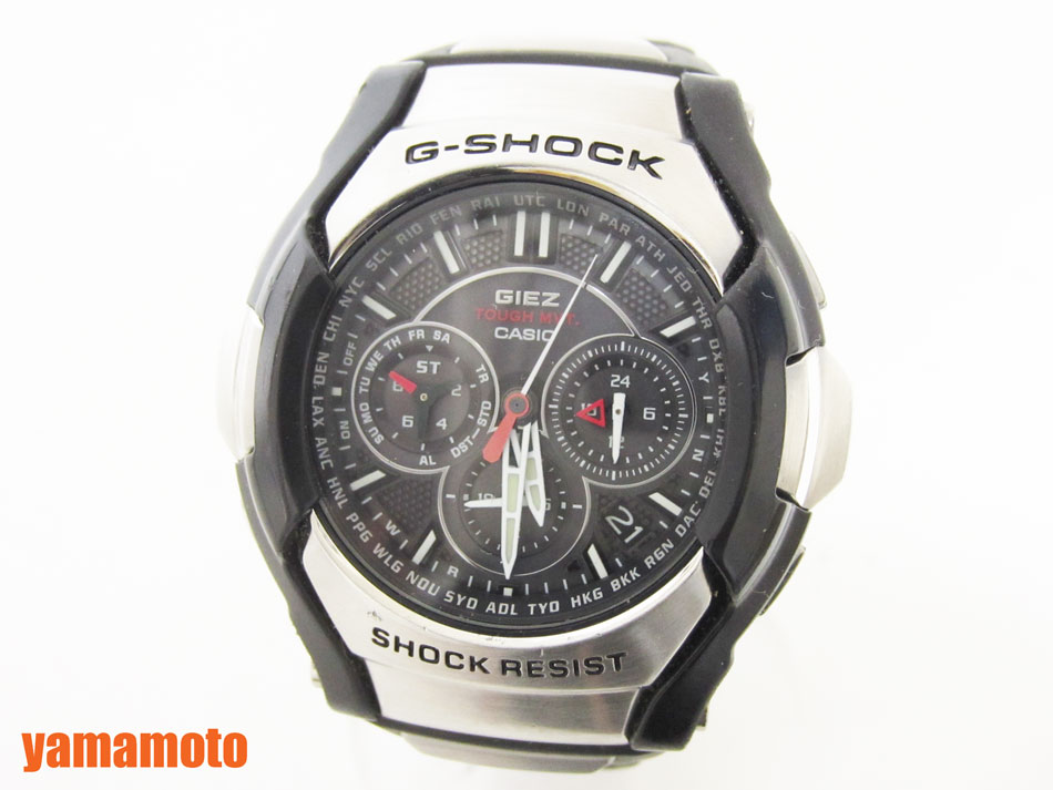 CASIO カシオ G-SHOCK Gショック GIEZ タフソーラー腕時計 メンズウォッチ GS-1300-1AJF 美品 【中古】