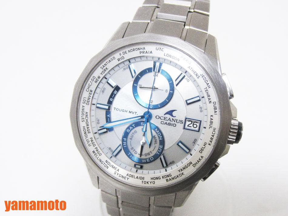 CASIO カシオ OCEANUS オシアナス マンタ 腕時計 メンズウォッチ チタン クロノグラフ 電波ソーラー OCW-S2000【中古】