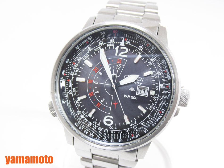 CITIZEN シチズン PROMASTER プロマスター エコドライブ ナイトホーク メンズウォッチ 腕時計 海外モデル BJ7010 【中古】