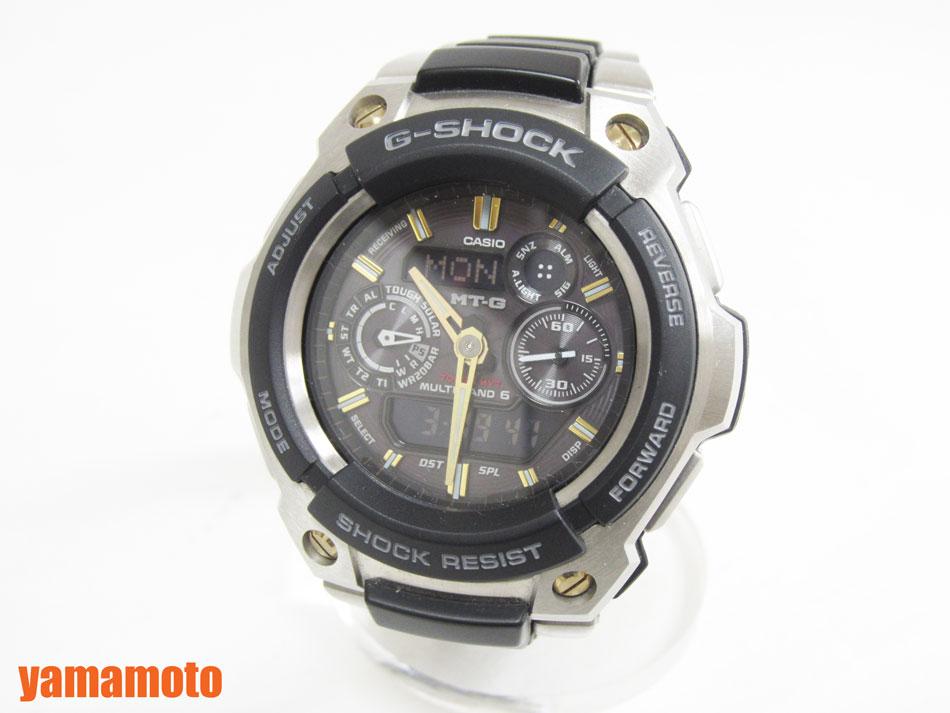 CASIO カシオ G-SHOCK MT-G 腕時計 タフソーラー メンズウォッチ ソーラー電波 MTG-1500-9AJF 美品【中古】