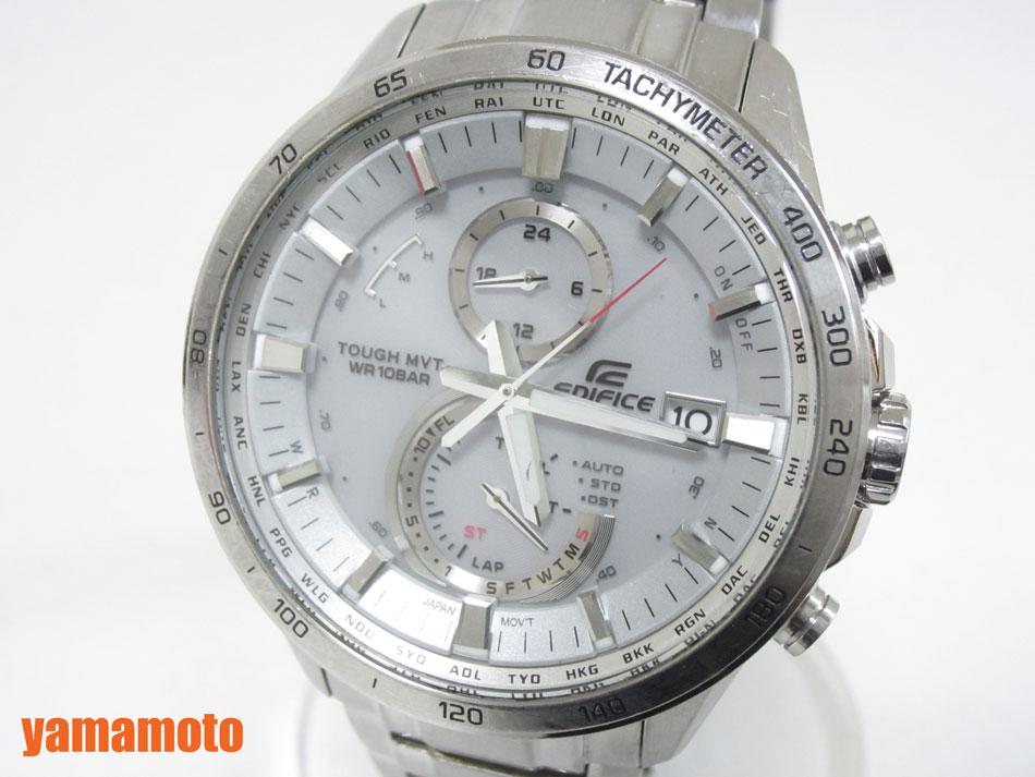 【当店なら!ポイント10倍!要エントリー!】CASIO カシオ EDIFICE エディフィス 腕時計 メンズウォッチ 電波ソーラー EQW-A1400D-7AJF【中古】