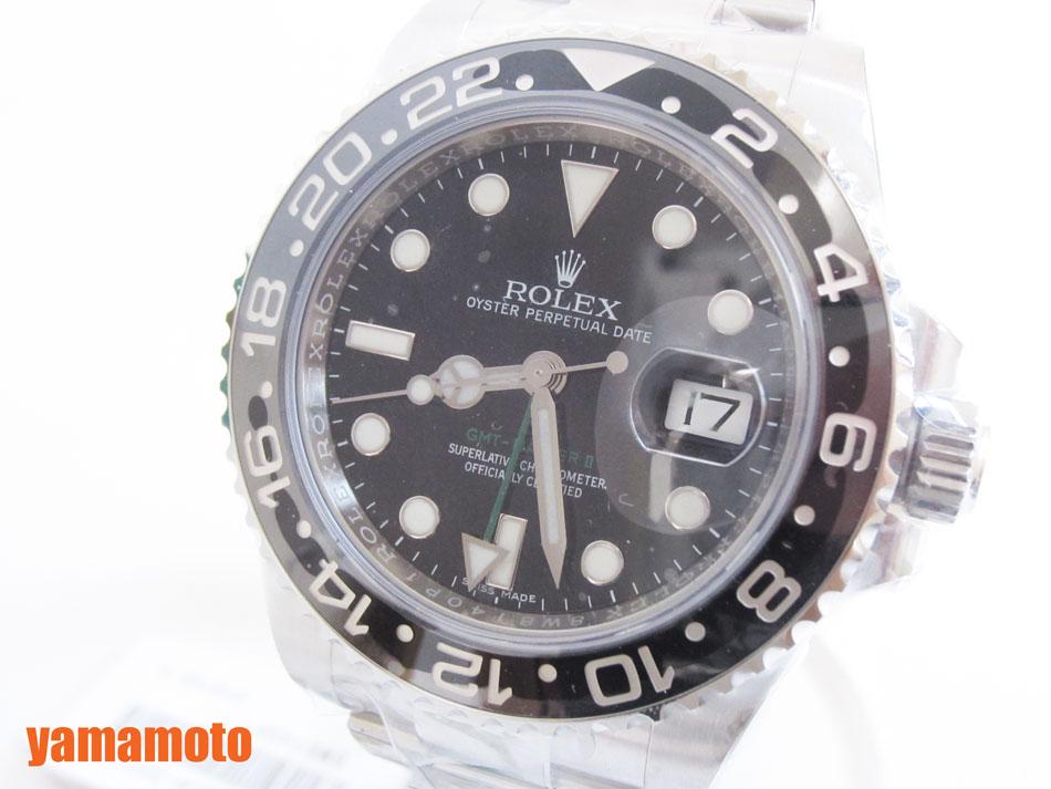 【当店なら!ポイント10倍!要エントリー!】ROLEX ロレックス GMT-MASTER2 GMTマスター2 自動巻き メンズウォッチ 腕時計 ランダム 116710LN 2017年 国際保証書【中古】