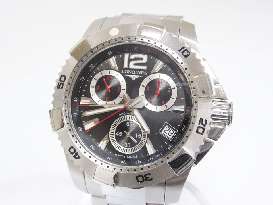 LONGINES ロンジン ハイドロコンクエスト メンズウォッチ 腕時計 クォーツ デイト クォーツ L3.650.4 超美品【中古】