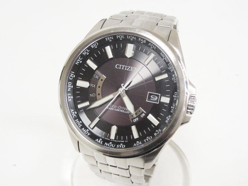 CITIZEN シチズン Eco-Drive エコドライブ メンズウォッチ 腕時計 ソーラー電波 H145-S073545 ヤマト運輸勤続25周年記念【中古】