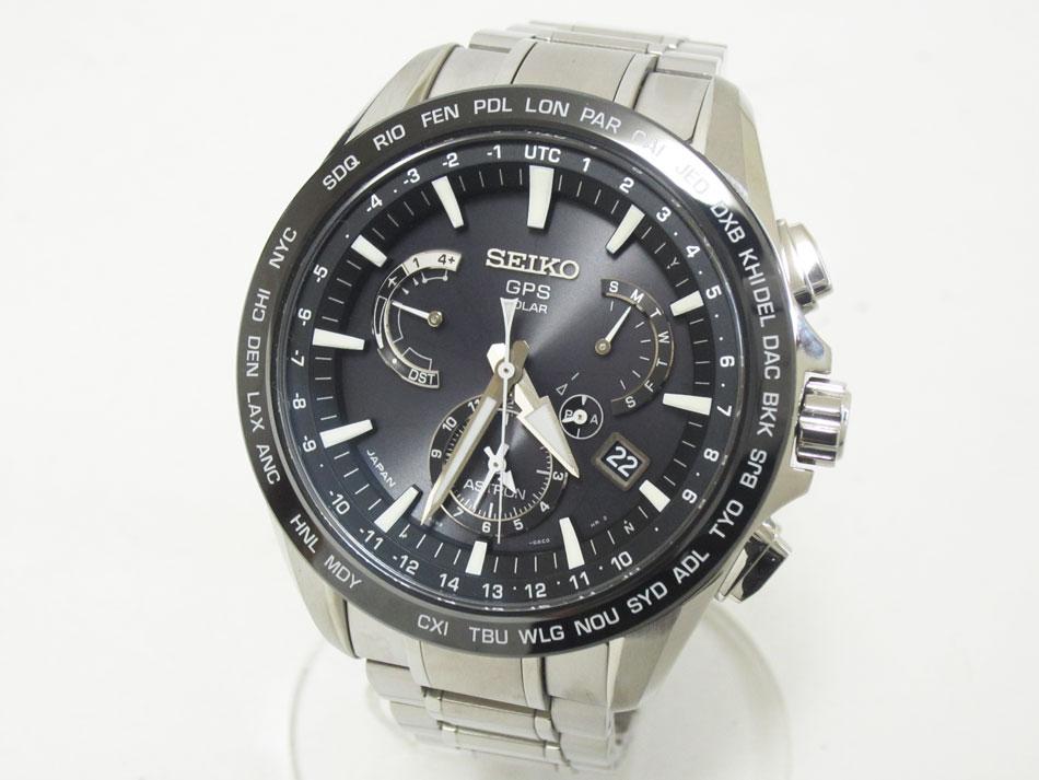 SEIKO セイコー ASTRON アストロン メンズウォッチ 腕時計 ソーラーGPS衛星電波 ブラック SBXB077 8X53-0AD0-2 新品【中古】