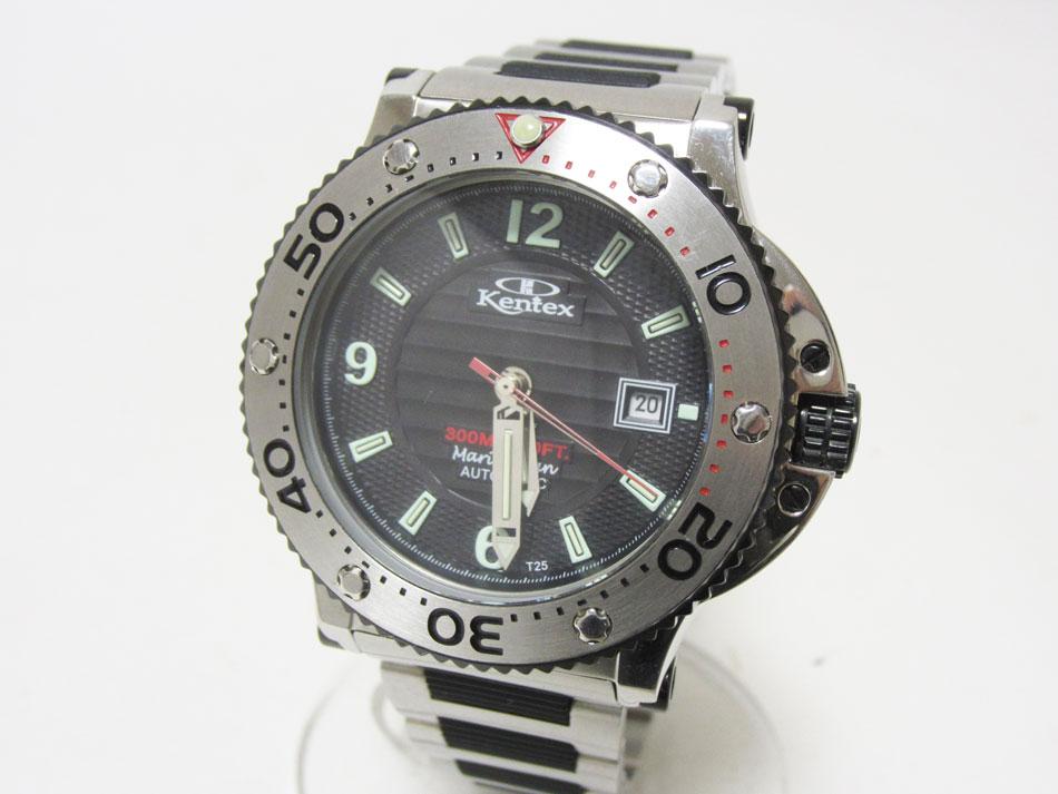 Kentex ケンテックス マリンマン メンズウォッチ 腕時計 300m ダイバー 自動巻き S601M 限定品【中古】