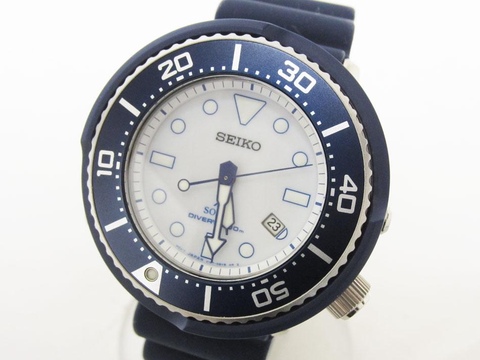 SEIKO セイコー PROSPEX プロスペックス DIVER SCUBA ダイバー スキューバ SHIPS シップス限定 ソーラー メンズウォッチ 腕時計 SBDN037 V147-0BH0 美品【中古】