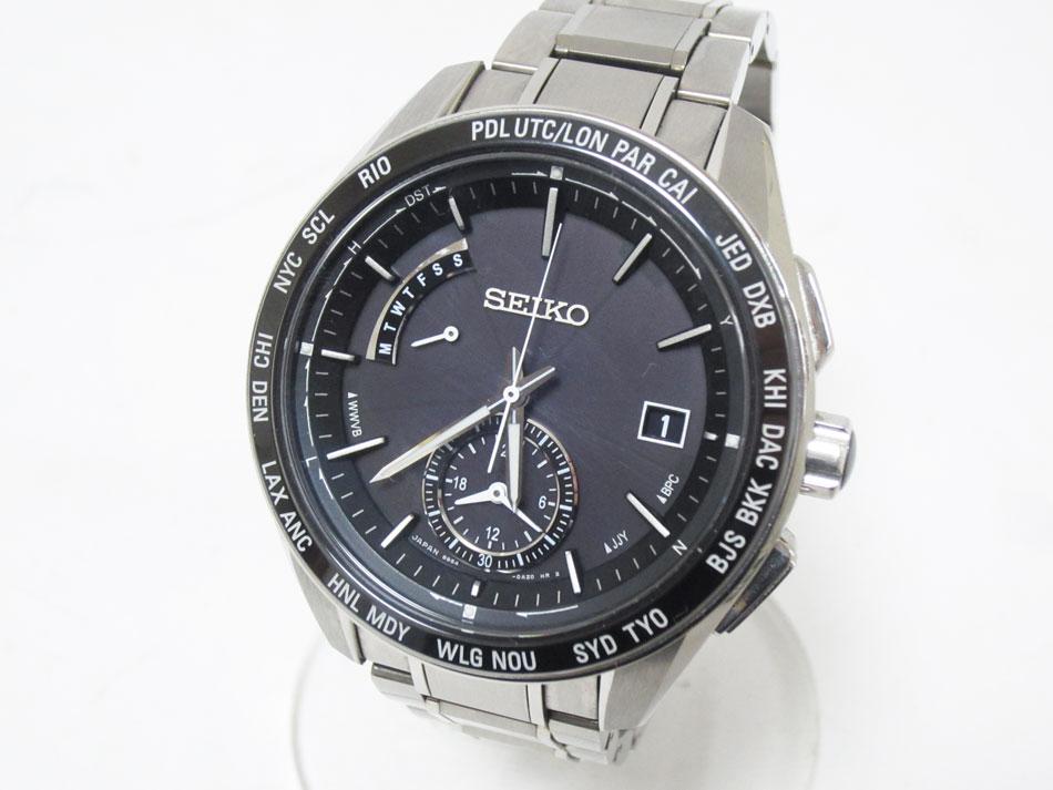 SEIKO セイコー BRIGHTZ ブライツ 電波ソーラー 腕時計 メンズウォッチ SAGA167 8B54-0BC0 美品【中古】