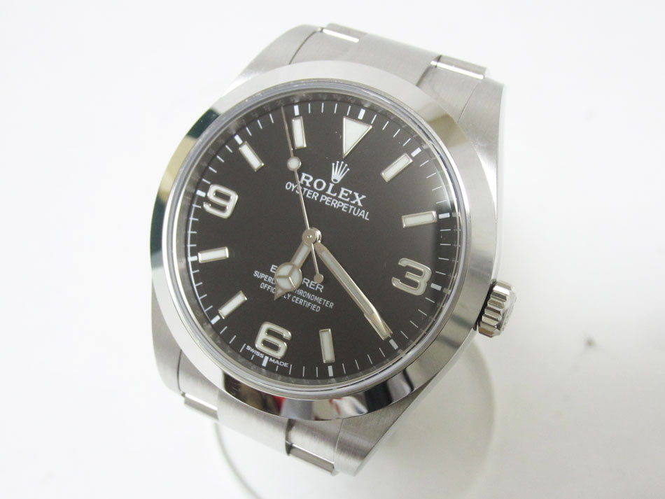 ROLEX ロレックス エクスプローラー1 メンズウォッチ 自動巻き AT ステンレス ブラック文字盤 腕時計 ランドム 214270 超美品【中古】
