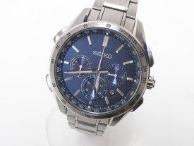 SEIKO セイコー BRIGHTZ ブライツ メンズウォッチ 腕時計 ソーラー 電波時計 ブルー文字盤 SAG191 8B92-0AB0 美品【中古】