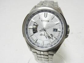 CITIZEN シチズン Eco-Drive エコドライブ メンズウォッチ 腕時計 ソーラー電波 H145-S073545 【中古】