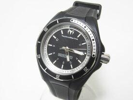 TechnoMarine テクノマリーン クルーズスポーツ3 メンズウォッチ 腕時計 ブラック シリコン 替えベルト 110012 超美品【中古】