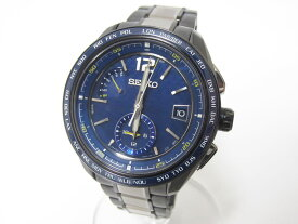 SEIKO セイコー BRIGHTZ ブライツ メンズウォッチ 腕時計 ソーラー 電波時計 ブルー文字盤 チタン 8B63-0AS0 超美品【中古】