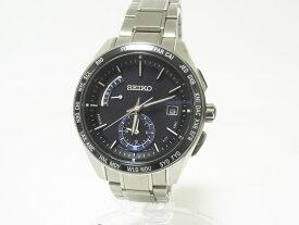 SEIKO セイコー BRIGHTZ ブライツ ソーラー電波 メンズウォッチ 腕時計 ワールドタイム チタン シルバー SAGA179 8B54-0BF0 美品【中古】