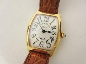 FRANCK MULLER フランクミュラー トノーカーベックス レディース ウォッチ 腕時計 750 PG ピンクゴールド 革ベルト 1752QZ【中古】