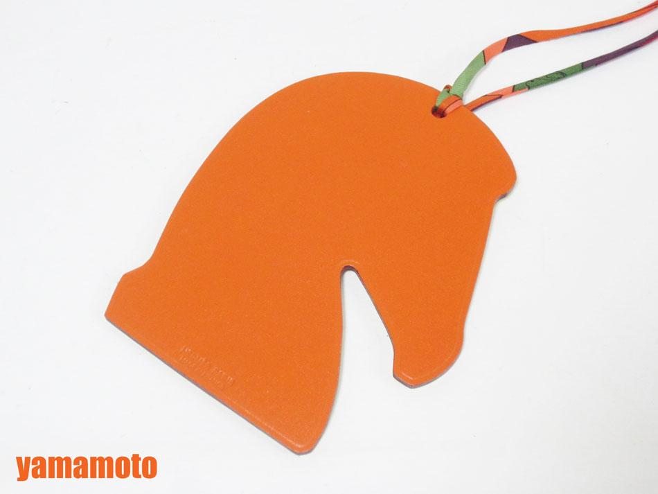 HERMES エルメス チャーム サマルカンド バッグチャーム ホース 馬 イエロー オレンジ シルク 新品同様 【中古】