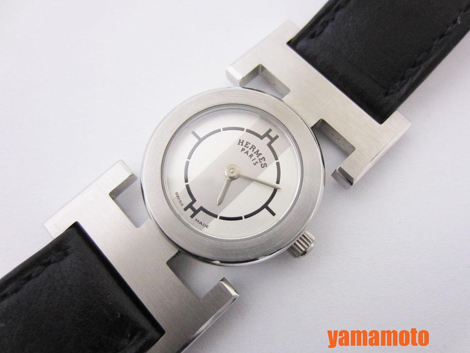 HERMES エルメス パプリカ レディースウォッチ 腕時計 クォーツ 革ベルト PA1.210 美品 【中古】