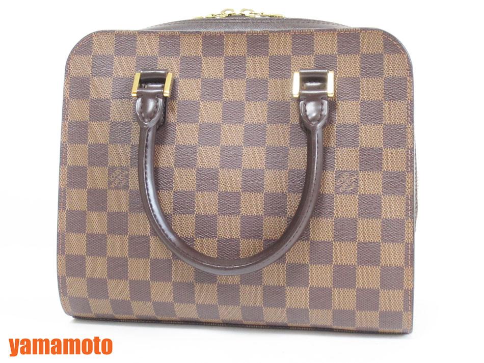 LOUIS VUITTON ルイウ゛ィトン ダミエ トリアナ ハンドバッグ N51155 超美品【中古】