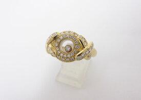 chopard ショパール ハッピーダイヤモンド リング 指輪 ダイヤ 750 K18 イエローゴールド YG 11号 新品仕上げ【中古】