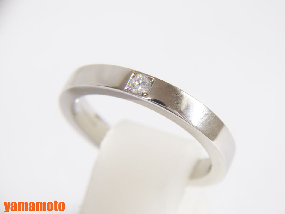 BVLGARI ブルガリ リング 指輪 マリー ミー 750 K18 WG ホワイトゴールド ダイヤ 1P 48 8号 AN854104 保証書 美品【中古】